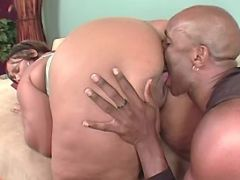 Guy eats out juicy chocolate pussy black fat xxx