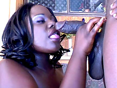 Ebony fatty filling her face hole with cock black fat xxx