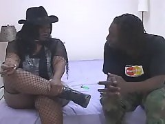 Stud takes care of big black babe black fat xxx