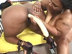 Stud takes care of big ebony chick black fat xxx